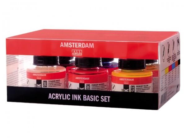 Amsterdam Acrylic Ink Combiset 6x 30ml