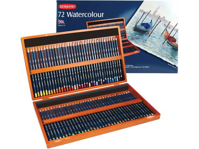 Derwent watercolour box, 72 potloden